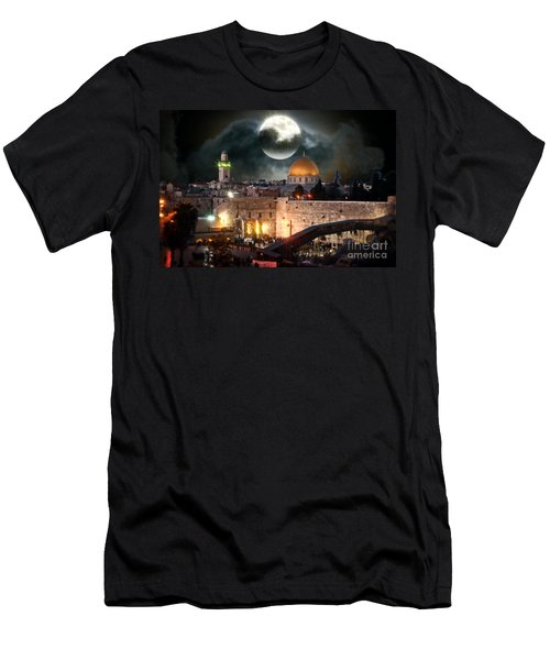 Full Moon At The Dome Of The Rock Men's T-Shirt (Athletic Fit)