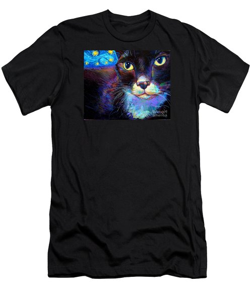 Men's T-Shirt (Slim Fit) featuring the painting Starry Night Jack by Robert Phelps