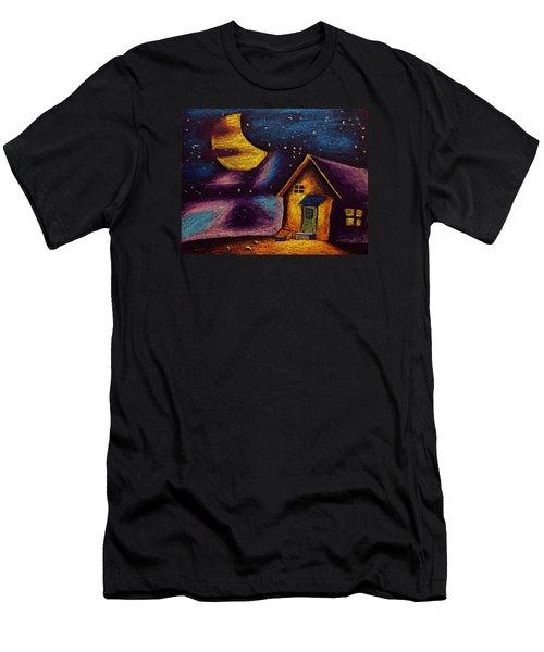 Starry Night Men's T-Shirt (Slim Fit) by Salman Ravish