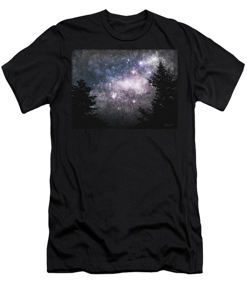 Men's T-Shirt (Slim Fit) featuring the photograph Starry Starry Night by Cynthia Lassiter