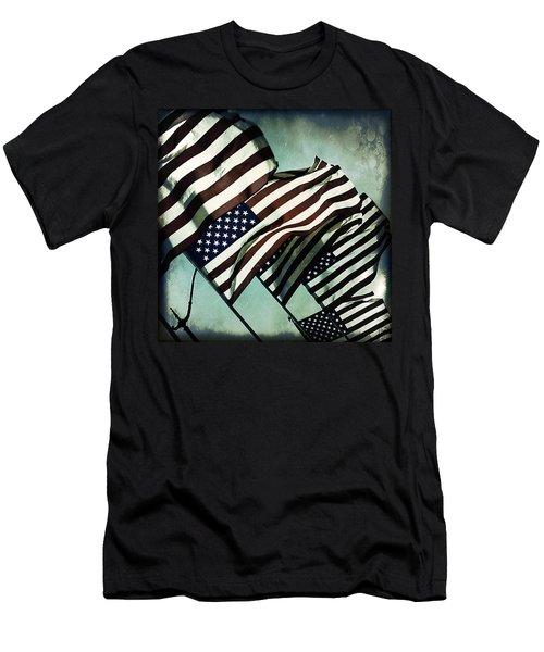 Stars N  Stripes Men's T-Shirt (Athletic Fit)