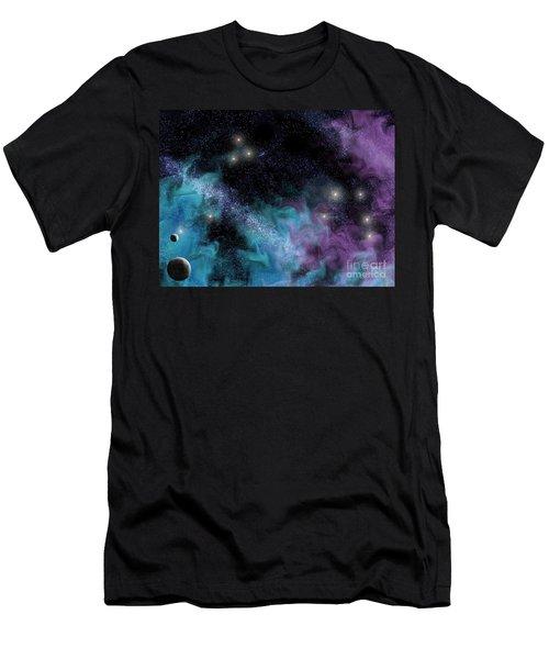 Starscape Nebula Men's T-Shirt (Slim Fit) by Antony McAulay