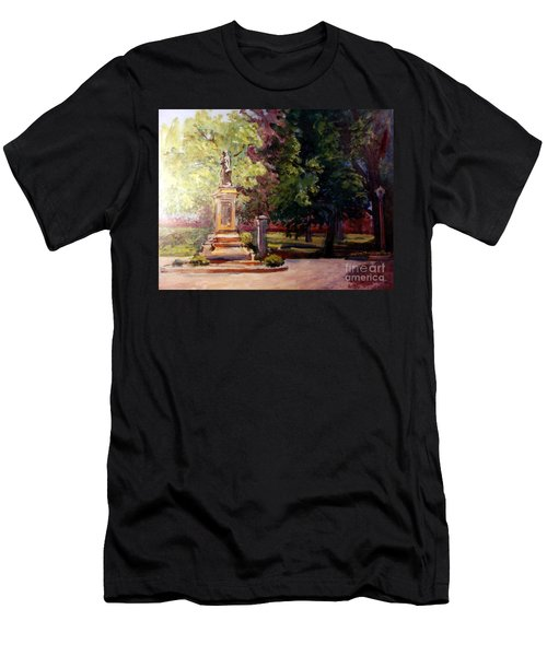 Statue In  Landscape Men's T-Shirt (Athletic Fit)