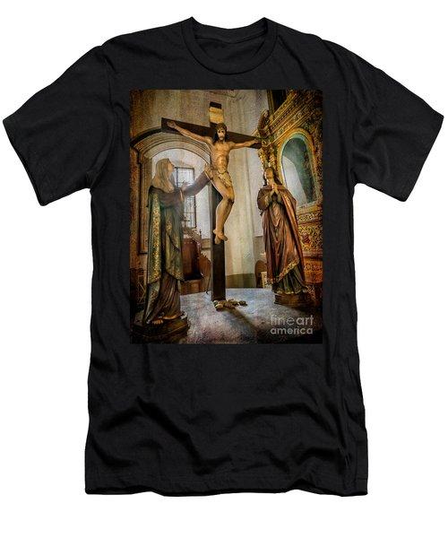 Statue Of Jesus Men's T-Shirt (Athletic Fit)