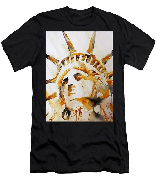 Statue Of Liberty Closeup Men's T-Shirt (Athletic Fit)