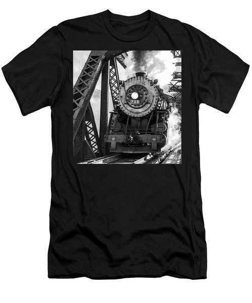 Steam Engine 734 Leaving The Narrows Men's T-Shirt (Athletic Fit)