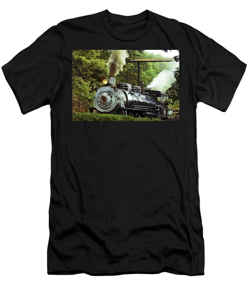 Steam Engine Men's T-Shirt (Slim Fit) by Laurie Perry