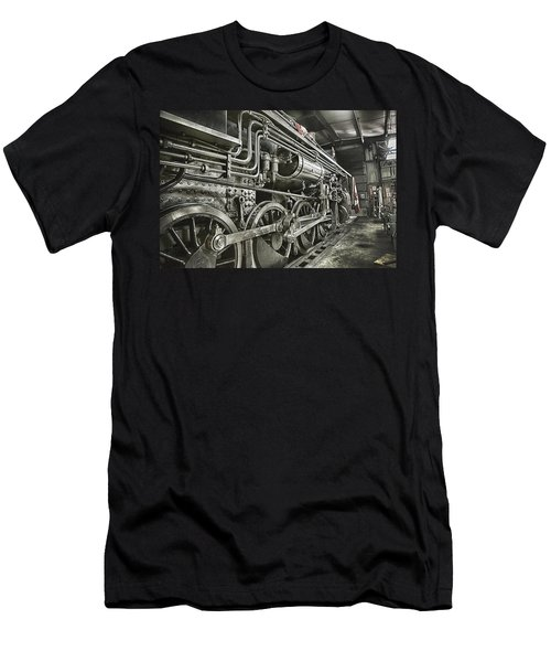 Steam Locomotive 2141 Men's T-Shirt (Athletic Fit)