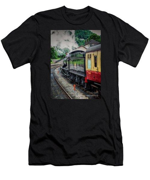 Steam Train 3802 Men's T-Shirt (Athletic Fit)