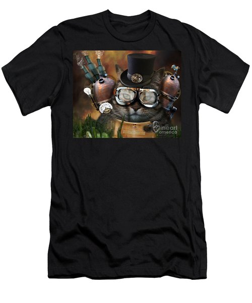 Steampunk Cat Men's T-Shirt (Athletic Fit)