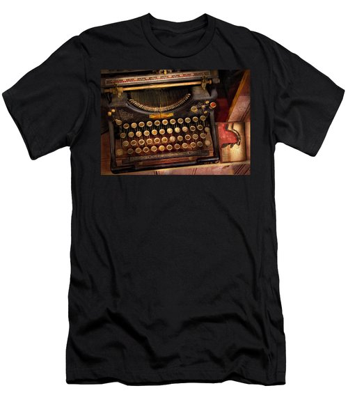 Steampunk - Just An Ordinary Typewriter  Men's T-Shirt (Athletic Fit)