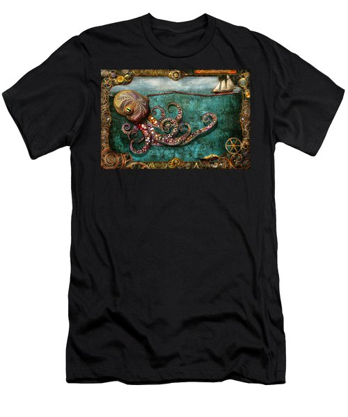 Steampunk - The Tale Of The Kraken Men's T-Shirt (Athletic Fit)