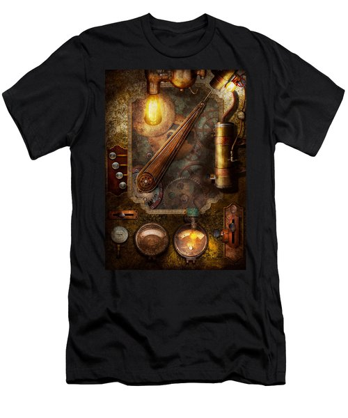 Steampunk - Victorian Fuse Box Men's T-Shirt (Athletic Fit)