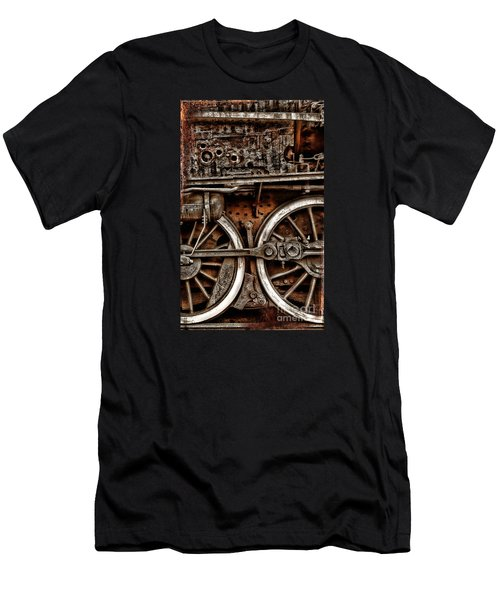 Steampunk- Wheels Locomotive Men's T-Shirt (Athletic Fit)