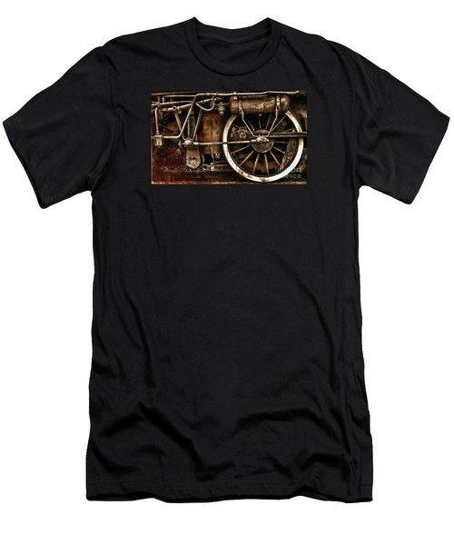 Steampunk- Wheels Of Vintage Steam Train Men's T-Shirt (Athletic Fit)