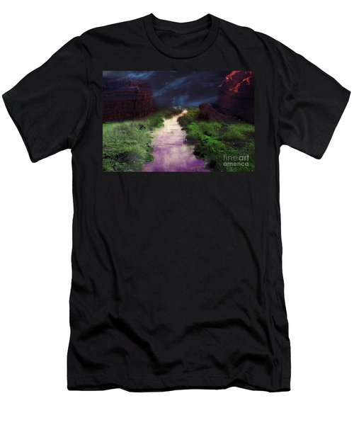 Men's T-Shirt (Athletic Fit) featuring the photograph Steamy Creek by Gunter Nezhoda