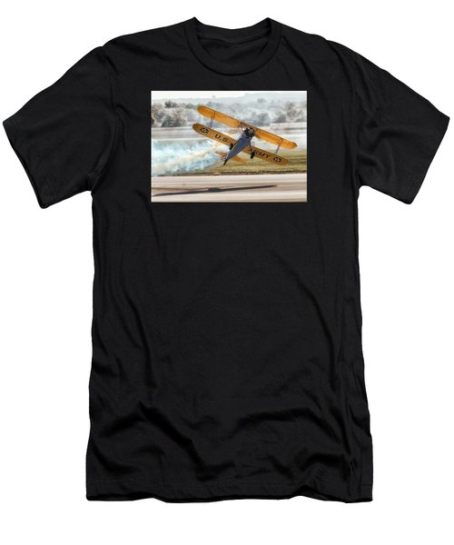 Stearman Model 75 Biplane Men's T-Shirt (Athletic Fit)