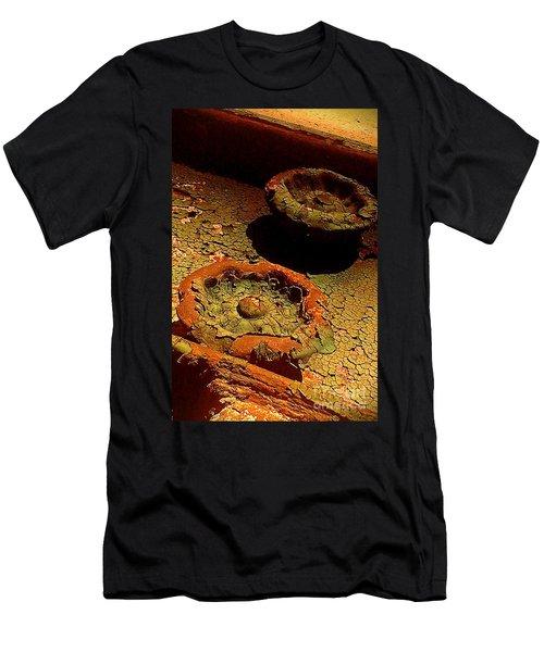 Men's T-Shirt (Slim Fit) featuring the photograph Steel Flowers by James Aiken