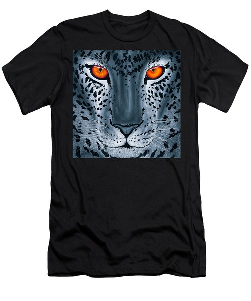 Steel Leopard Men's T-Shirt (Athletic Fit)