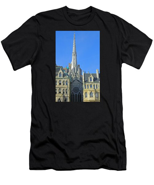 Steeple Of Grace Episcopal Church Nyc Men's T-Shirt (Athletic Fit)