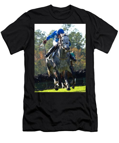 Men's T-Shirt (Slim Fit) featuring the photograph Steeplechase by Robert L Jackson