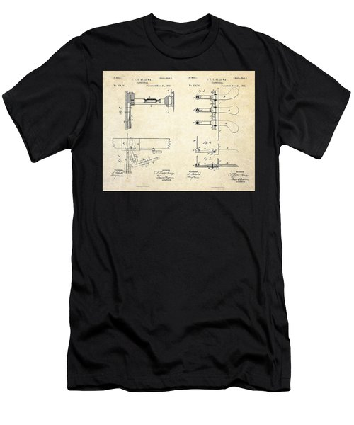 1885 Steinway Piano Pedal Patent Art Men's T-Shirt (Athletic Fit)