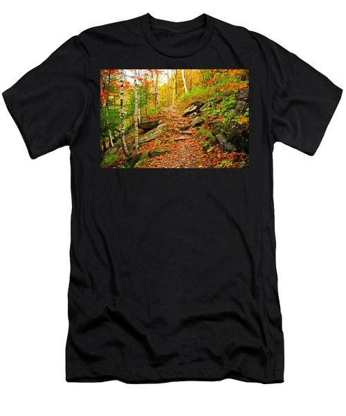 Men's T-Shirt (Slim Fit) featuring the photograph Stepping Stones by Bill Howard