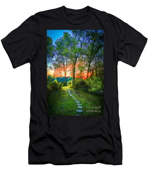 Stepping Stones To The Light Men's T-Shirt (Athletic Fit)