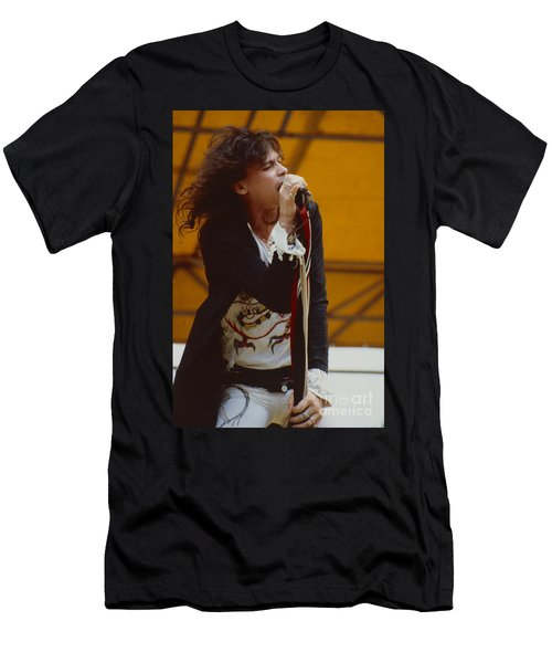 Steven Tyler Of Aerosmith At Monsters Of Rock In Oakland Ca Men's T-Shirt (Athletic Fit)