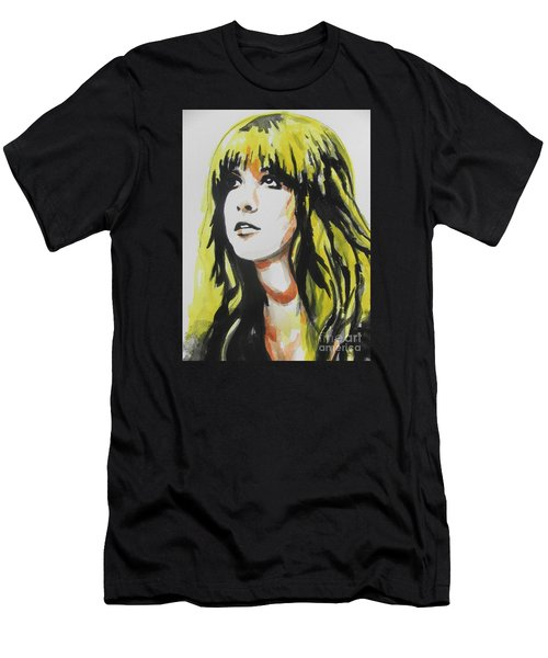 Stevie Nicks 01 Men's T-Shirt (Slim Fit) by Chrisann Ellis