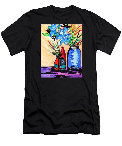 Still Life Flowers Men's T-Shirt (Athletic Fit)