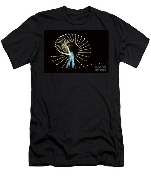 Stroboscopic Golf Swing Men's T-Shirt (Athletic Fit)