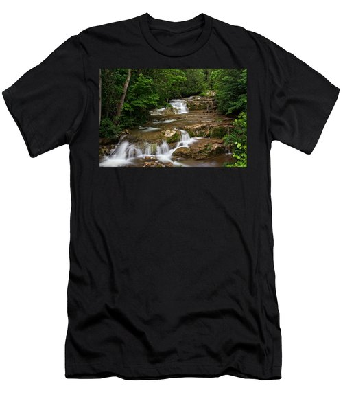Men's T-Shirt (Slim Fit) featuring the photograph Stockbridge Falls by Dave Files
