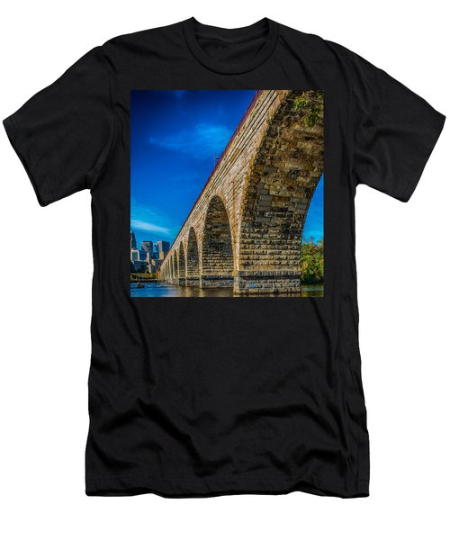 Stone Arch Bridge By Paul Freidlund Men's T-Shirt (Athletic Fit)