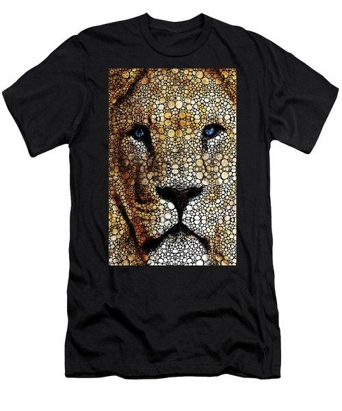 Stone Rock'd Lion 2 - Sharon Cummings Men's T-Shirt (Athletic Fit)
