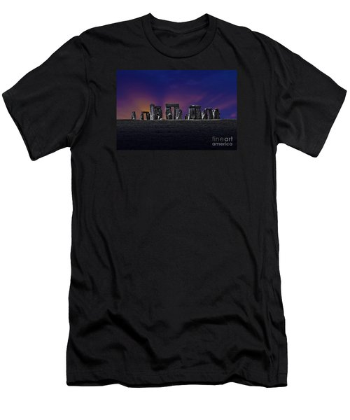 Men's T-Shirt (Slim Fit) featuring the photograph Stonehenge Looking Moody by Terri Waters