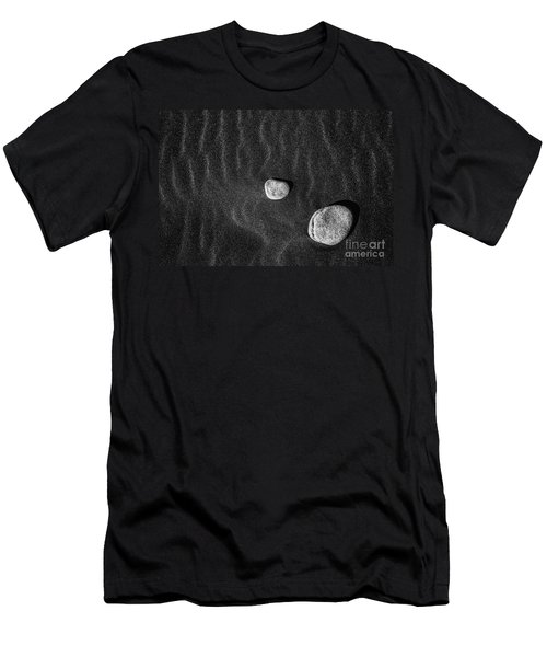 Men's T-Shirt (Slim Fit) featuring the photograph Stones In The Sand by Gunnar Orn Arnason
