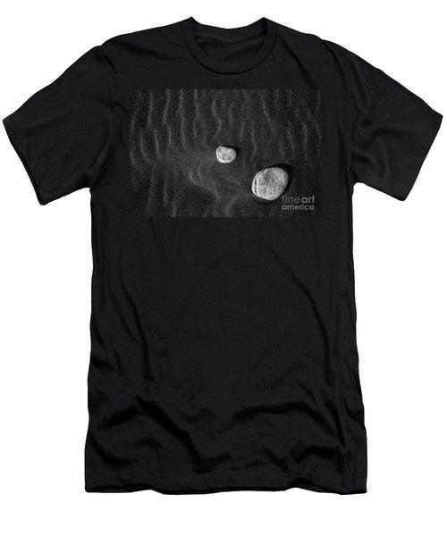 Stones In The Sand Men's T-Shirt (Slim Fit) by Gunnar Orn Arnason