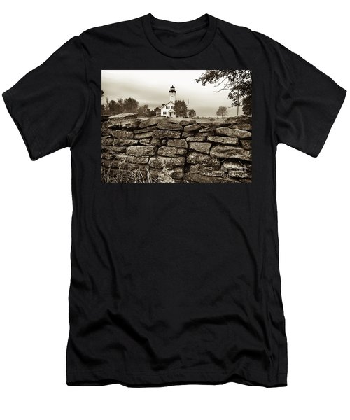 Stony Point Lighthouse Men's T-Shirt (Slim Fit) by Tony Cooper