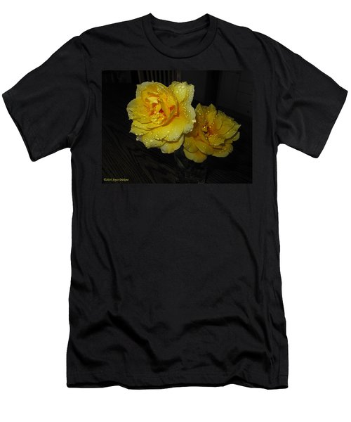 Stop And Smell The Roses Men's T-Shirt (Slim Fit) by Joyce Dickens