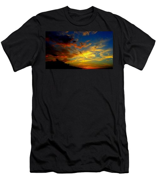 Men's T-Shirt (Slim Fit) featuring the photograph Storm Brings Beauty by Chris Tarpening