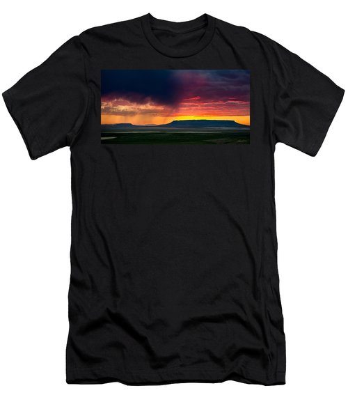 Storm Clouds Over Square Butte Men's T-Shirt (Athletic Fit)
