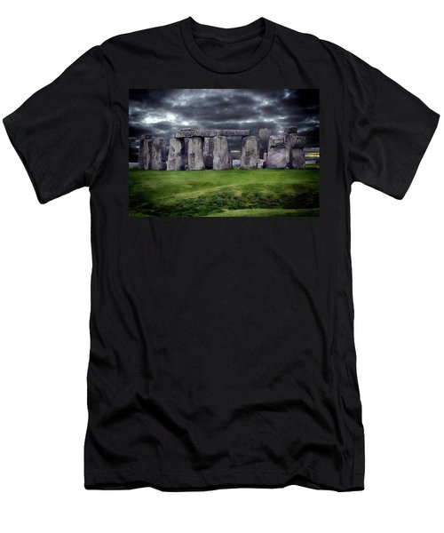 Storm Clouds Over Stonehenge Men's T-Shirt (Slim Fit) by Anthony Dezenzio