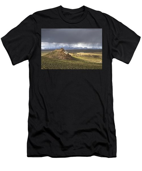 Men's T-Shirt (Athletic Fit) featuring the photograph Storm Over Chiu Monastery, Chiu, 2011 by Hitendra SINKAR