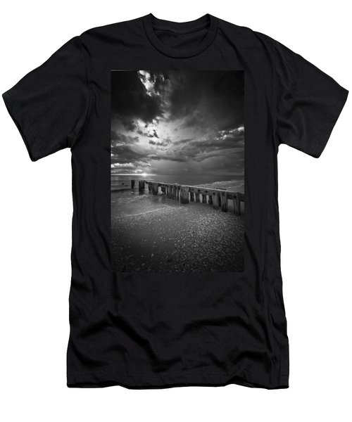 Storm Over Naples Florida Beach Men's T-Shirt (Athletic Fit)