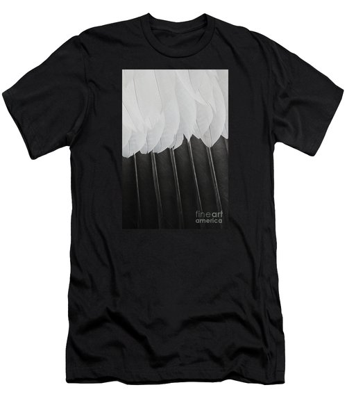Stormy Feathers Men's T-Shirt (Slim Fit) by Judy Whitton