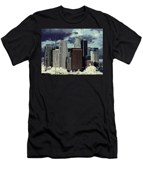 Men's T-Shirt (Slim Fit) featuring the photograph stormy Los Angeles from the freeway by Jodie Marie Anne Richardson Traugott          aka jm-ART