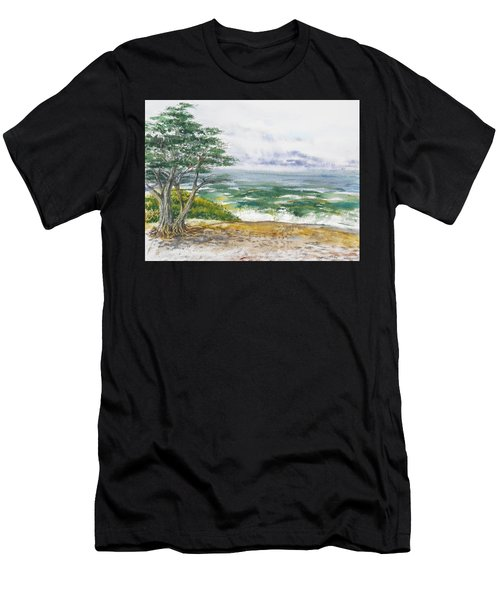 Stormy Morning At Carmel By The Sea California Men's T-Shirt (Athletic Fit)
