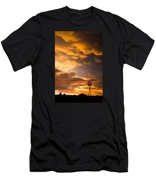 Stormy Sunrise Men's T-Shirt (Athletic Fit)