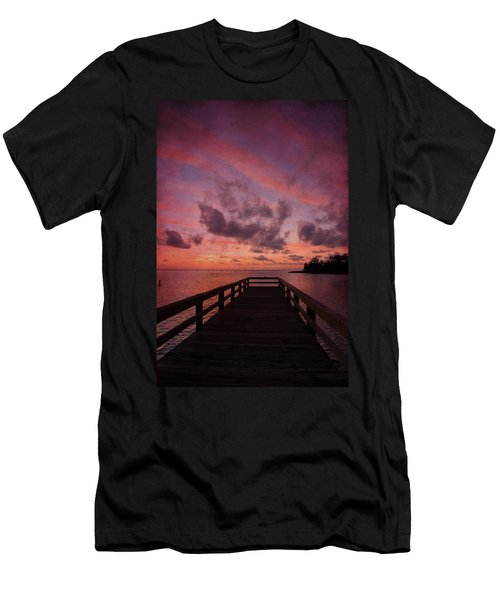 Stormy Sunset Men's T-Shirt (Slim Fit) by Beverly Stapleton